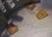 溶解処理機内の様子の写真